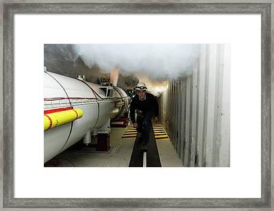 Safety Training At Cern Framed Print