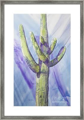 Saguaro In Winter Framed Print