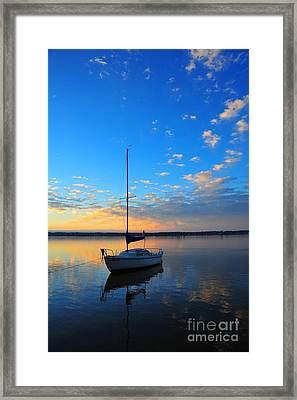Framed Print featuring the photograph Sailing 2 by Terri Gostola