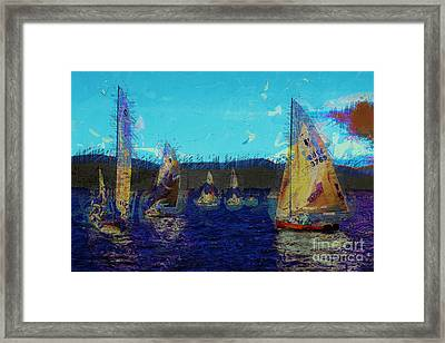 Framed Print featuring the photograph Sailing Day  by Julie Lueders