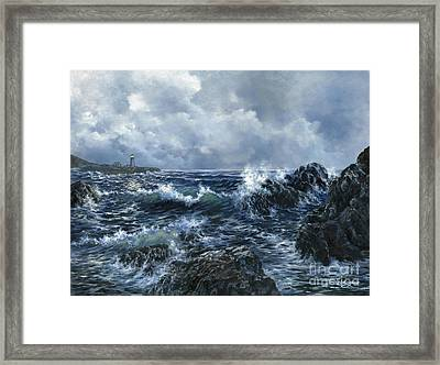 Framed Print featuring the painting Sailor's Light by Lynne Wright