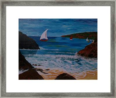 Framed Print featuring the painting Sails by Judi Goodwin