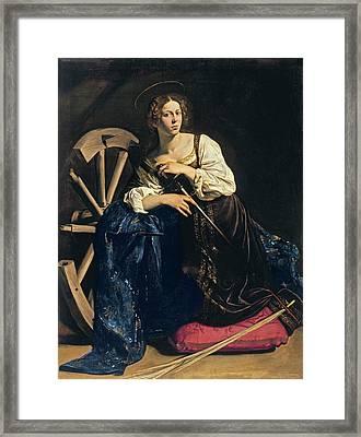 Saint Catherine Of Alexandria Framed Print by Caravaggio