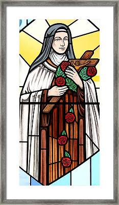Saint Therese Of Lisieux Framed Print by Gilroy Stained Glass