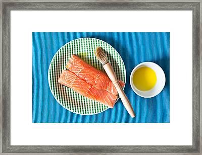 Salmon Fillets Framed Print