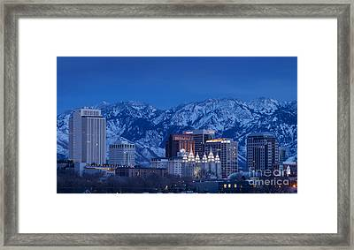 Salt Lake City Framed Print
