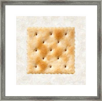 Saltine Cracker Framed Print by Danny Smythe