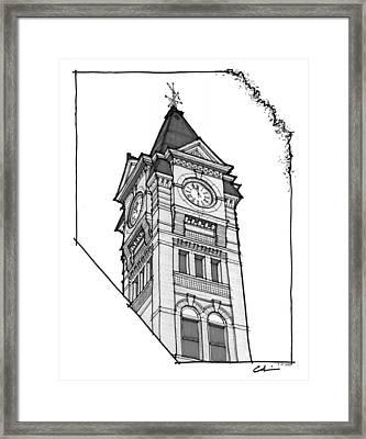 Samford Hall Clock Tower Framed Print