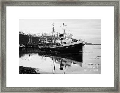 san cristobal saint christopher tugboat wreck in Ushuaia Argentina Framed Print