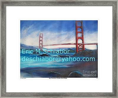 San Francisco Golden Gate Bridge  Framed Print by Eric  Schiabor
