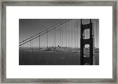 San Francisco Through Golden Gate Bridge Framed Print by Twenty Two North Photography