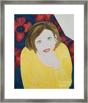 Framed Print featuring the painting Sana. Inspirations Collection. by Oksana Semenchenko