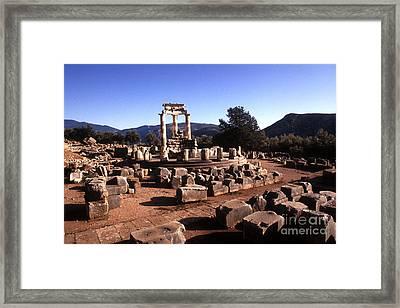 Sanctuary Of Athena At Delphi Framed Print