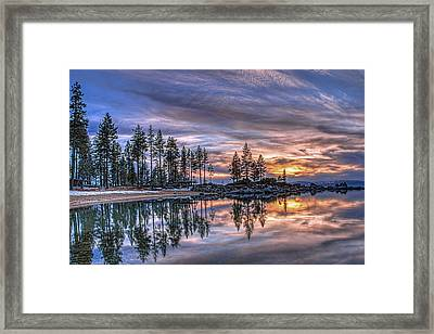 Waning Winter Framed Print