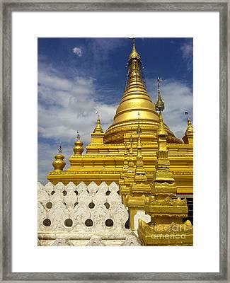 Framed Print featuring the photograph Sandamuni Pagoda Mandalay Burma by Ralph A  Ledergerber-Photography