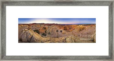 Sandstone Formations Coyote Buttes Framed Print by Yva Momatiuk John Eastcott