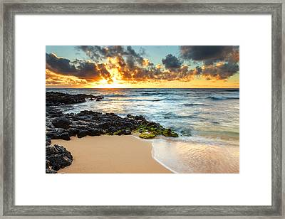 Sandy Beach Sunrise 7 Framed Print