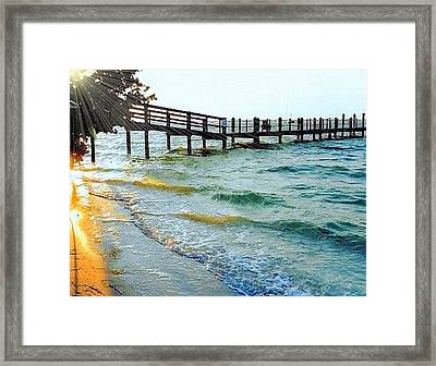 Framed Print featuring the photograph Sanibel At Sunset by Janette Boyd