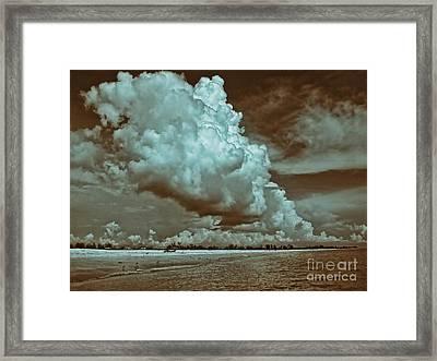 Sanibel In Sepia Framed Print by Jeff Breiman