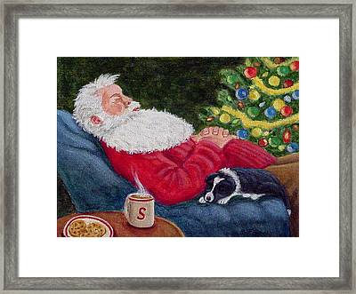 Santa And Breagh Framed Print