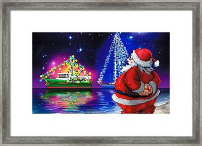 Crusin' Santa Claus Framed Print by Doc Braham