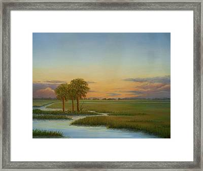 Santee Sunset Framed Print by Audrey McLeod