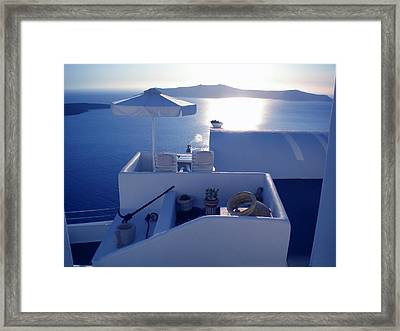 Santorini Island Greece Framed Print