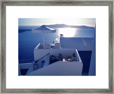 Santorini Island Greece Framed Print by Colette V Hera  Guggenheim