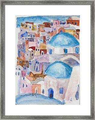 Santorini Splendor Framed Print