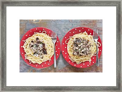 Sardines And Spaghetti Framed Print by Tom Gowanlock