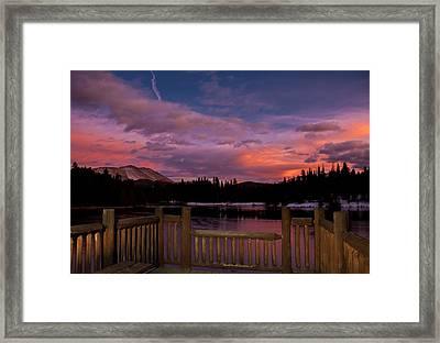 Sawmill Lake Sunset Framed Print