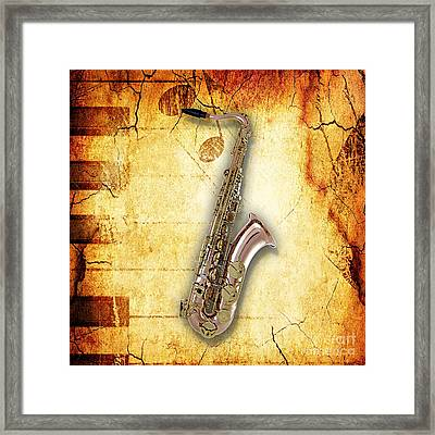 Saxophone Collection Framed Print