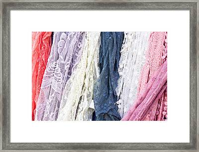 Scarves Framed Print by Tom Gowanlock