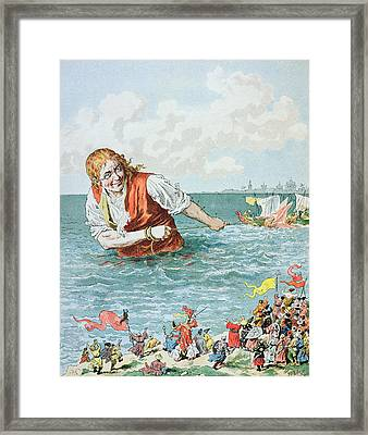Scene From Gullivers Travels Framed Print by Frederic Lix