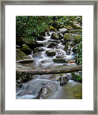 Scenic Cascade Framed Print by Frozen in Time Fine Art Photography