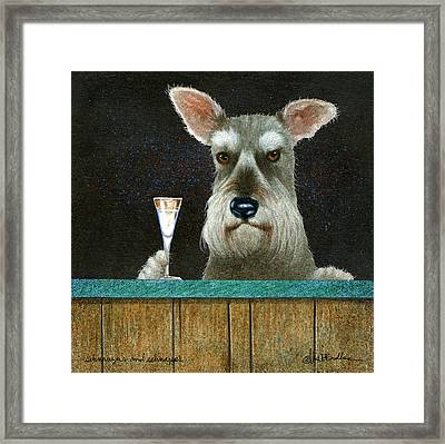 Schnauzers And Schnapps... Framed Print by Will Bullas
