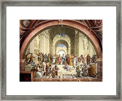 School Of Athens Framed Print by Raphael