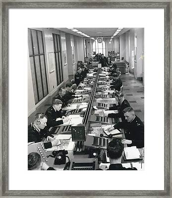 Scotland Yard Faces New Wave Of Crime Latest Pictures Of Framed Print by Retro Images Archive