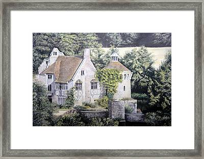 Framed Print featuring the painting Scotney Castle by Rosemary Colyer