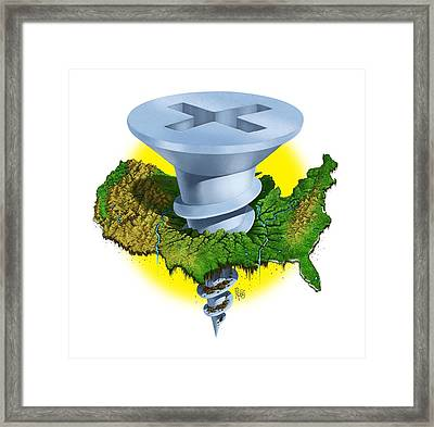 Screwed Framed Print