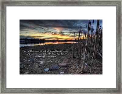 Scripture Photo Framed Print