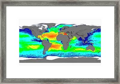 Sea Surface Salinity Framed Print by Nasa/goddard Space Flight Center Scientific Visualization Studio
