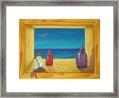 Sea View One Framed Print by Pamela Allegretto