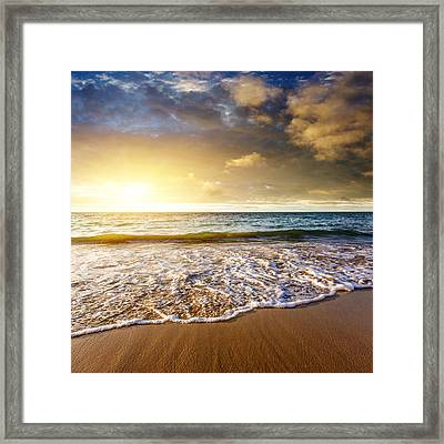Seashore Framed Print by Carlos Caetano
