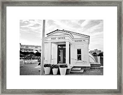 Seaside Post Office Framed Print by Scott Pellegrin