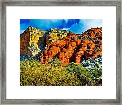 Framed Print featuring the photograph Sedona Arizona - Wilderness Area by Bob and Nadine Johnston