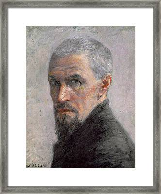 Self Portrait Framed Print by Gustave Caillebotte