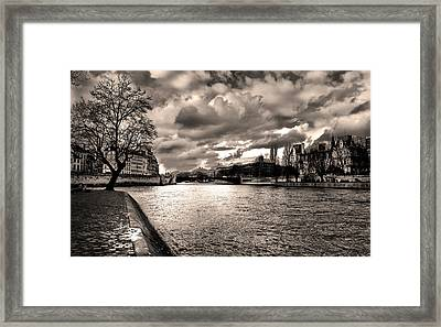 Sena River After Storm Framed Print by Radoslav Nedelchev