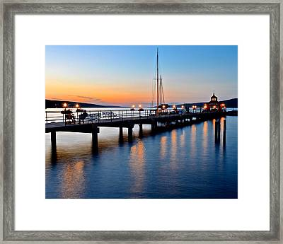 Seneca Lake Sunset Framed Print by Frozen in Time Fine Art Photography
