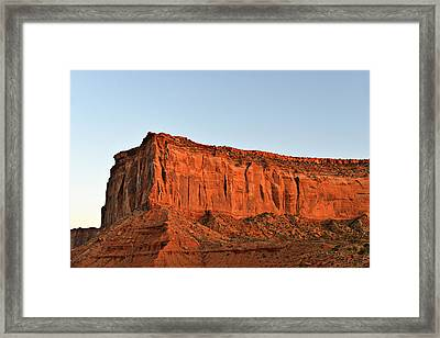 Sentinel Mesa Monument Valley Framed Print